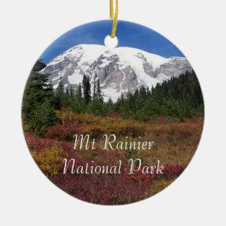 Mount Rainier National Park Christmas Ornament