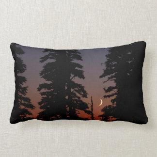 Mount Rainier National Park, Crescent Moon Throw Pillow
