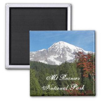 Mount Rainier National Park 2 Inch Square Magnet