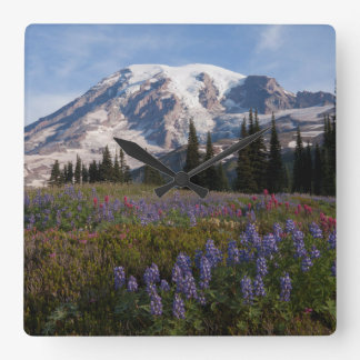 Mount Rainier National Park, Mount Rainier 3 Square Wall Clock