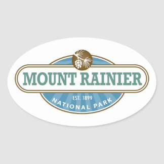 Mount Rainier National Park Oval Sticker