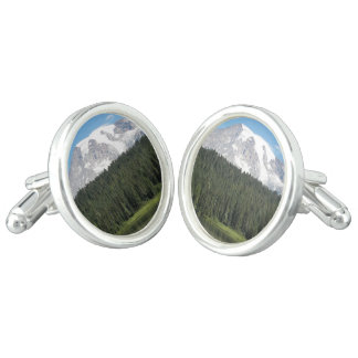 Mount Rainier National Park Photo Cufflinks