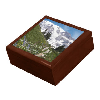 Mount Rainier National Park Photo Keepsake Box