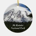 Mount Rainier National Park Single-Sided Ornament