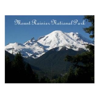 Mount Rainier National Park Travel Photo Postcard