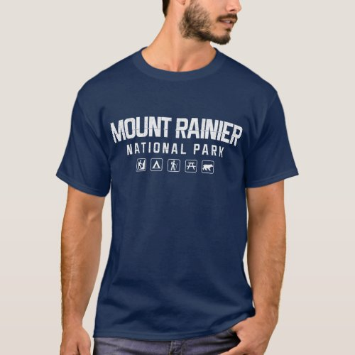 Mount Rainier National Park Tshirt dark