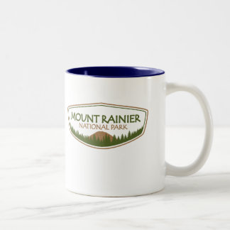 Mount Rainier National Park Two-Tone Coffee Mug