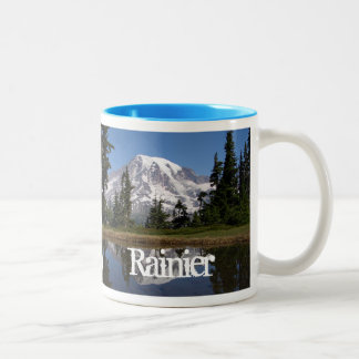 Mount Rainier, Nisqually Glacier, Mt. Rainier NP Two-Tone Coffee Mug