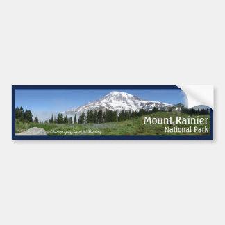 Mount Rainier Panorama with text Bumper Sticker