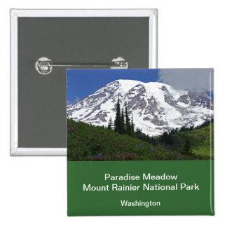 Mount Rainier Paradise Meadow Button