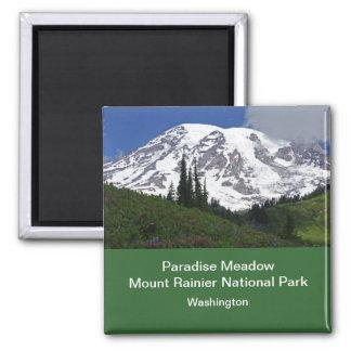 Mount Rainier Paradise Meadow Magnet