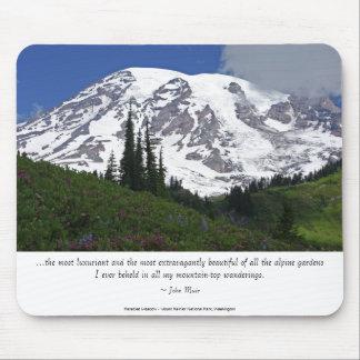 Mount Rainier Paradise Meadow Mouse Pad