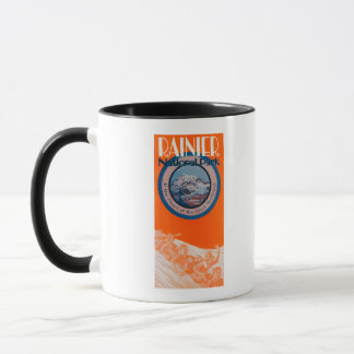 Mount Rainier Poster - Sledding Mug