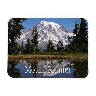 Mount Rainier Reflected in Mountain Lake Rectangular Photo Magnet