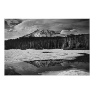 Mount Rainier reflection poster