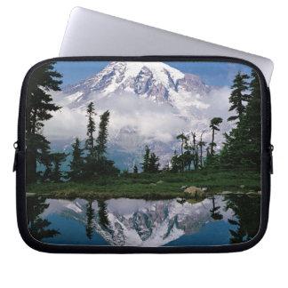 Mount Rainier relected in a mountain tarn Computer Sleeve