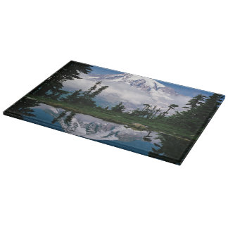 Mount Rainier relected in a mountain tarn Cutting Board