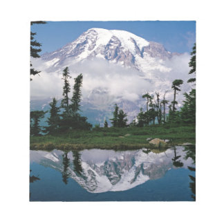 Mount Rainier relected in a mountain tarn Notepad