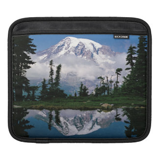 Mount Rainier relected in a mountain tarn Sleeves For iPads