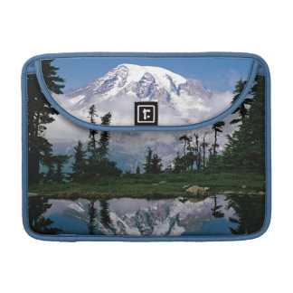 Mount Rainier relected in a mountain tarn Sleeves For MacBook Pro