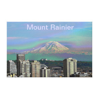 Mount Rainier Seattle Wa Canvas Print