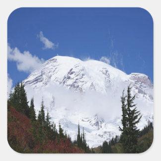 Mount Rainier Square Sticker