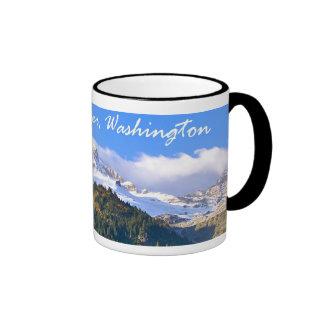 Mount Rainier Sunset Ringer Mug