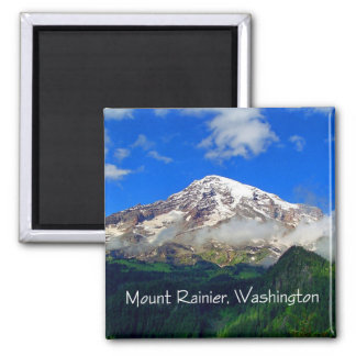 Mount Rainier Viewpoint 2 Inch Square Magnet