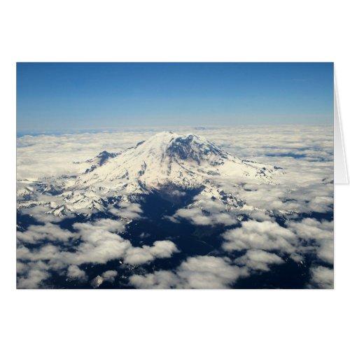 Mount Rainier, Washington, Aerial View, Card