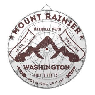 Mount Rainier Washington Dartboard