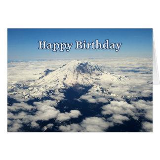 Mount Rainier, Washington, Happy Birthday Card