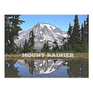 Mount Rainier - Washington State Postcard