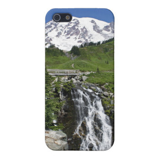 Mount Rainier with Waterfall iPhone Case