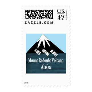 Mount Redoubt Volcano T-Shirts Postage