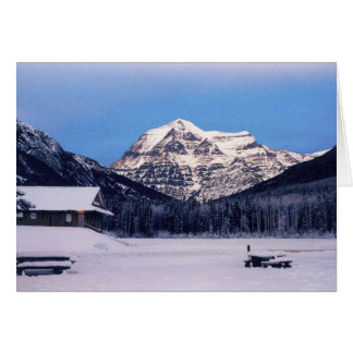 Mount Robson in Winter Card