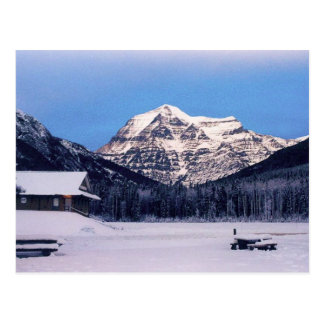Mount Robson in Winter Postcard