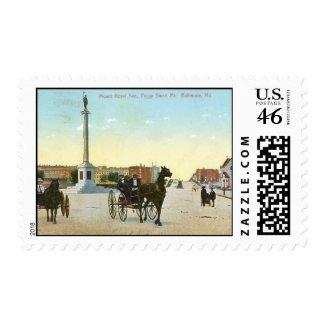 Mount Royal Ave., Baltimore Vintage stamp