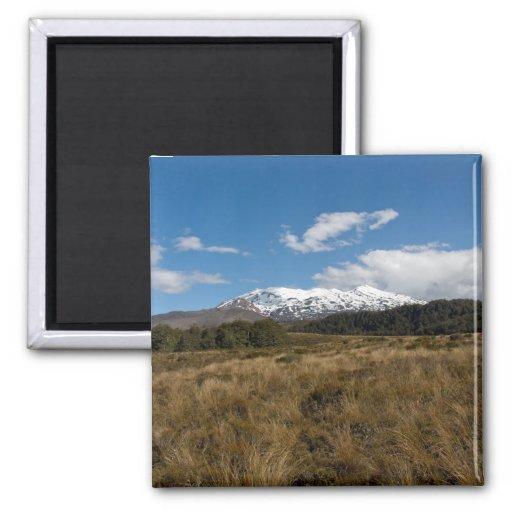 Mount Ruapehu Fridge Magnet