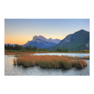 Mount Rundle and Vermilion Lake Sunset Photo Print