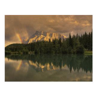 Mount Rundle Rainbow, Cascade Ponds Postcard