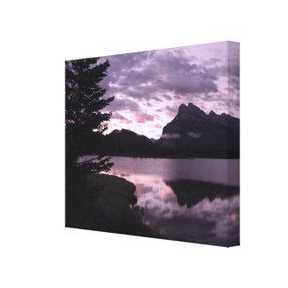 Mount Rundle Sunset Canvas Wrap