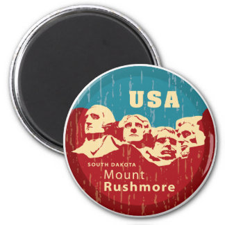 Mount Rushmore 2 Inch Round Magnet