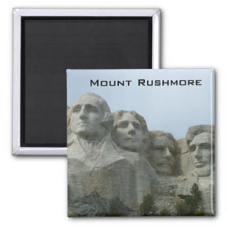 Mount Rushmore 2 Inch Square Magnet