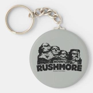 Mount Rushmore Basic Round Button Keychain
