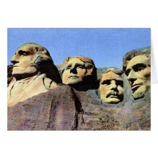 Mount Rushmore Black Hill South Dakota Greeting Card