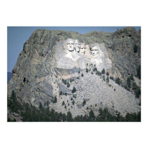 Mount Rushmore, Black Hills, South Dakota, USA Announcement