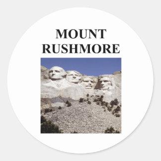 mount rushmore classic round sticker