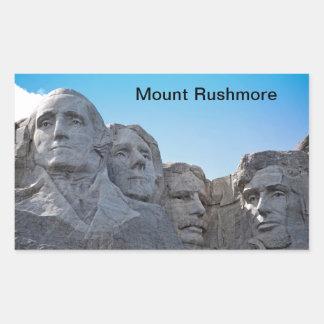 Mount Rushmore  collection Rectangular Sticker