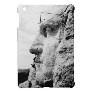 Mount Rushmore construction iPad Mini Cover