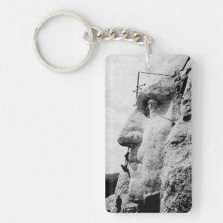 Mount Rushmore construction Keychain